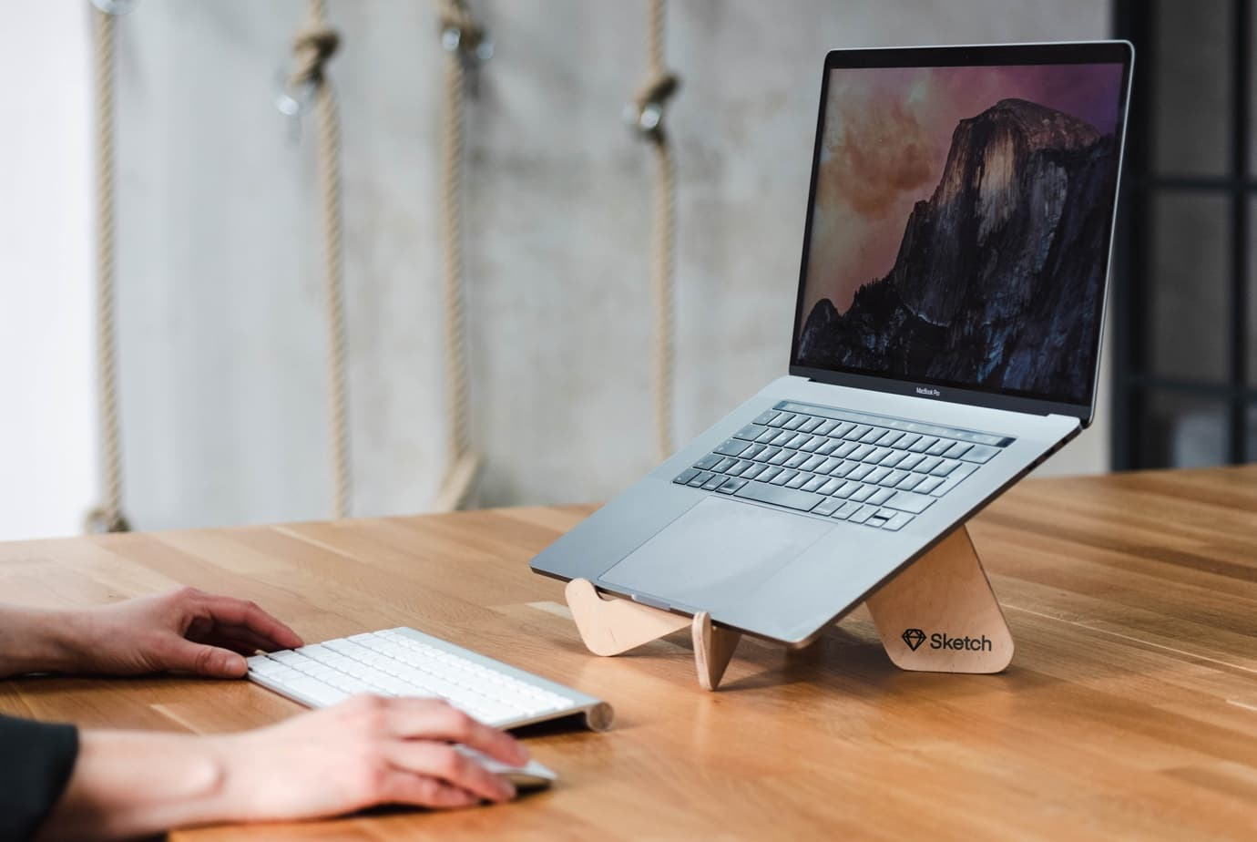 OpenStanding — portable wooden laptop stand